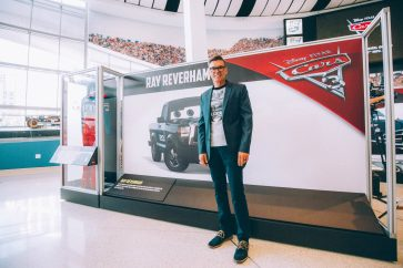 "CHARLOTTE, NC - SEPTEMBER 28: Cars 3 voice of ""Ray Reverham"" and NASCAR 2018 Hall of Fame Inductee Ray Evernham"
