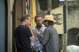 "Disney's ""PIRATES OF THE CARIBBEAN: DEAD MEN TELL NO TALES""..L to R: Director Espen Sandberg, Director Joachim Rønning and Producer Jerry Bruckheimer..©Disney Enterprises, Inc. All Rights Reserved."