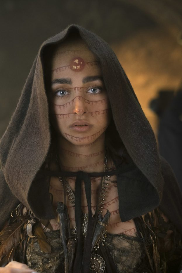 """""""PIRATES OF THE CARIBBEAN: DEAD MEN TELL NO TALES""""..The villainous Captain Salazar (Javier Bardem) pursues Jack Sparrow (Johnny Depp) as he searches for the trident used by Poseidon..Pictured: Shansa (Goldshifteh Farahani)..Ph: Peter Mountain..© Disney Enterprises, Inc. All Rights Reserved."""