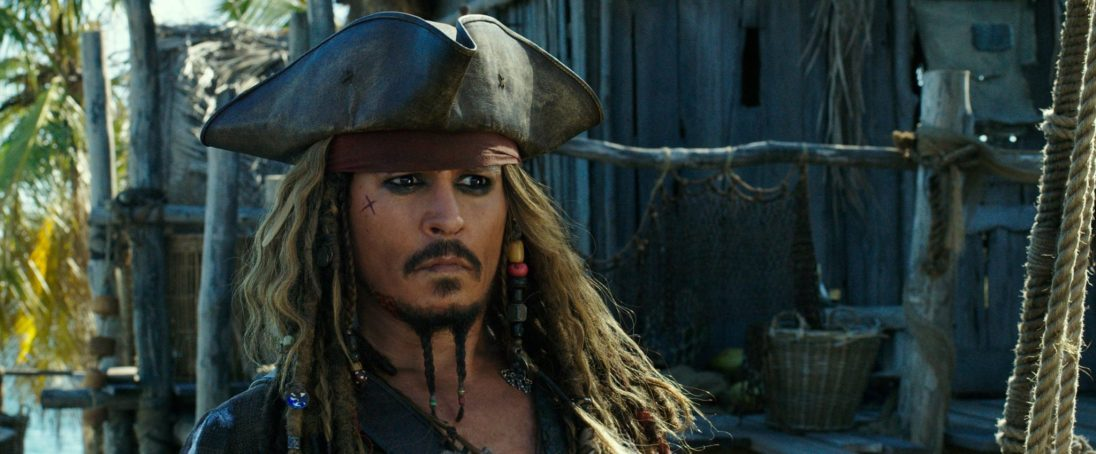 """""""PIRATES OF THE CARIBBEAN: DEAD MEN TELL NO TALES""""..The villainous Captain Salazar (Javier Bardem) pursues Jack Sparrow (Johnny Depp) as he searches for the trident used by Poseidon..Pictured: Captain Jack Sparrow (Johnny Depp)..Ph: Film Frame..© Disney Enterprises, Inc. All Rights Reserved."""