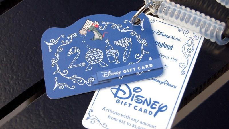 New Disney Gift Cards for the 2017 Epcot International Food & Wine Festival