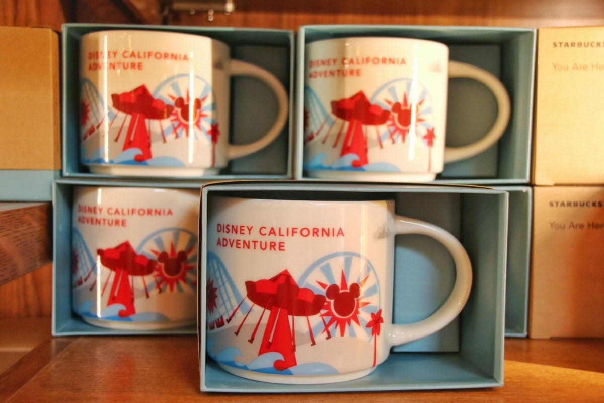"New Starbucks ""You Are Here"" Mugs Arrive at Disney California Adventure"