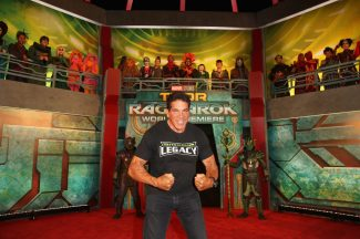 """HOLLYWOOD, CA - OCTOBER 10: Lou Ferrigno at The World Premiere of Marvel Studios' """"Thor: Ragnarok"""" at the El Capitan Theatre on October 10, 2017 in Hollywood, California. (Photo by Jesse Grant/Getty Images for Disney) *** Local Caption *** Lou Ferrigno"""
