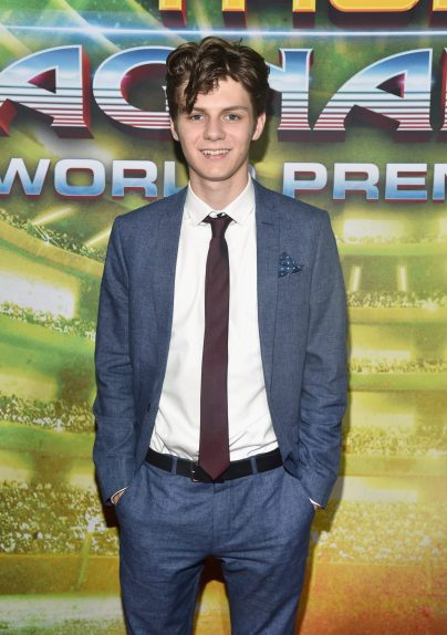 "HOLLYWOOD, CA - OCTOBER 10: Ty Simpkins at The World Premiere of Marvel Studios' ""Thor: Ragnarok"" at the El Capitan Theatre on October 10, 2017 in Hollywood, California. (Photo by Alberto E. Rodriguez/Getty Images for Disney) *** Local Caption *** Ty Simpkins"