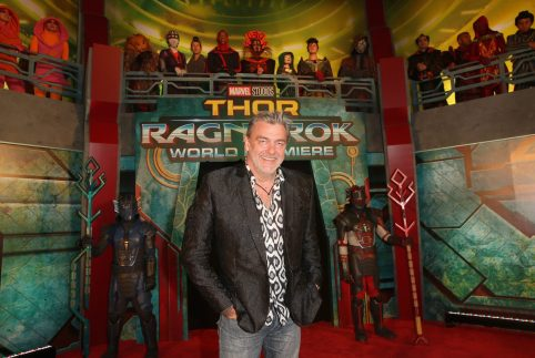 "HOLLYWOOD, CA - OCTOBER 10: Ray Stevenson at The World Premiere of Marvel Studios' ""Thor: Ragnarok"" at the El Capitan Theatre on October 10, 2017 in Hollywood, California. (Photo by Jesse Grant/Getty Images for Disney) *** Local Caption *** Ray Stevenson"