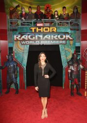 """HOLLYWOOD, CA - OCTOBER 10: Actor Natalia Cordova-Buckley at The World Premiere of Marvel Studios' """"Thor: Ragnarok"""" at the El Capitan Theatre on October 10, 2017 in Hollywood, California. (Photo by Jesse Grant/Getty Images for Disney) *** Local Caption *** Natalia Cordova-Buckley"""