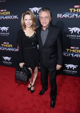"""HOLLYWOOD, CA - OCTOBER 10: Frankie Valli (R) and guest at The World Premiere of Marvel Studios' """"Thor: Ragnarok"""" at the El Capitan Theatre on October 10, 2017 in Hollywood, California. (Photo by Rich Polk/Getty Images for Disney) *** Local Caption *** Frankie Valli"""