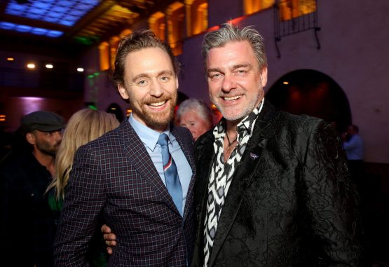 """HOLLYWOOD, CA - OCTOBER 10: Actors Tom Hiddleston (L) and Ray Stevenson at The World Premiere of Marvel Studios' """"Thor: Ragnarok"""" at the El Capitan Theatre on October 10, 2017 in Hollywood, California. (Photo by Jesse Grant/Getty Images for Disney) *** Local Caption *** Ray Stevenson; Tom Hiddleston"""