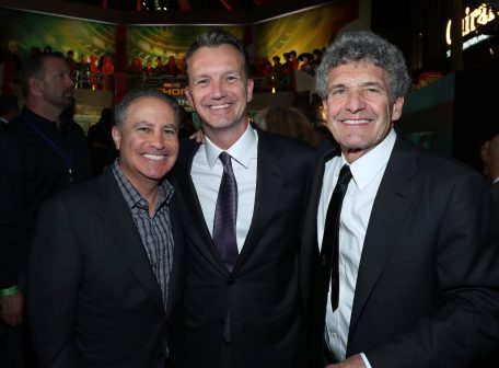 "HOLLYWOOD, CA - OCTOBER 10: (L-R) Walt Disney Studios President, Alan Bergman, President of Walt Disney Studios Motion Picture Production Sean Bailey and Chairman, The Walt Disney Studios, Alan Horn at The World Premiere of Marvel Studios' ""Thor: Ragnarok"" at the El Capitan Theatre on October 10, 2017 in Hollywood, California. (Photo by Rich Polk/Getty Images for Disney) *** Local Caption *** Alan Bergman; Sean Bailey; Alan Horn"