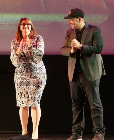 """HOLLYWOOD, CA - OCTOBER 10: Executive producer Victoria Alonso (L) and Producer Kevin Feige at The World Premiere of Marvel Studios' """"Thor: Ragnarok"""" at the El Capitan Theatre on October 10, 2017 in Hollywood, California. (Photo by Jesse Grant/Getty Images for Disney) *** Local Caption *** Victoria Alonso; Kevin Feige"""