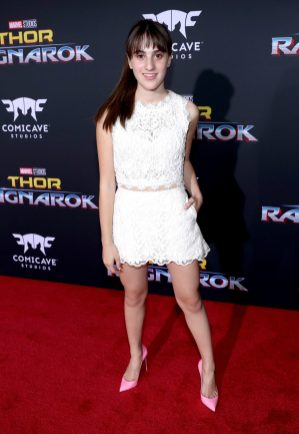 "HOLLYWOOD, CA - OCTOBER 10: Actor Maya Frank at The World Premiere of Marvel Studios' ""Thor: Ragnarok"" at the El Capitan Theatre on October 10, 2017 in Hollywood, California. (Photo by Rich Polk/Getty Images for Disney) *** Local Caption *** Maya Frank"