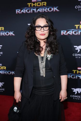 """HOLLYWOOD, CA - OCTOBER 10: Actor Rachel House at The World Premiere of Marvel Studios' """"Thor: Ragnarok"""" at the El Capitan Theatre on October 10, 2017 in Hollywood, California. (Photo by Rich Polk/Getty Images for Disney) *** Local Caption *** Rachel House"""