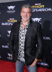 "HOLLYWOOD, CA - OCTOBER 10: Actor Ray Stevenson at The World Premiere of Marvel Studios' ""Thor: Ragnarok"" at the El Capitan Theatre on October 10, 2017 in Hollywood, California. (Photo by Rich Polk/Getty Images for Disney) *** Local Caption *** Ray Stevenson"