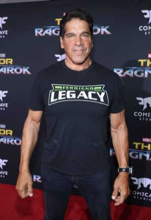 "HOLLYWOOD, CA - OCTOBER 10: Actor Lou Ferrigno at The World Premiere of Marvel Studios' ""Thor: Ragnarok"" at the El Capitan Theatre on October 10, 2017 in Hollywood, California. (Photo by Rich Polk/Getty Images for Disney) *** Local Caption *** Lou Ferrigno"