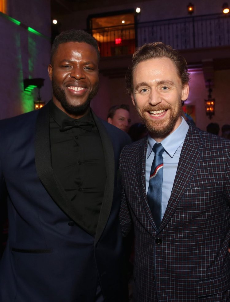 "HOLLYWOOD, CA - OCTOBER 10: Actors Winston Duke (L) and Tom Hiddleston at The World Premiere of Marvel Studios' ""Thor: Ragnarok"" at the El Capitan Theatre on October 10, 2017 in Hollywood, California. (Photo by Jesse Grant/Getty Images for Disney) *** Local Caption *** Winston Duke; Tom Hiddleston"