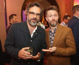 "HOLLYWOOD, CA - OCTOBER 10: Actors Jemaine Clement (L) and Chris Hardwick at The World Premiere of Marvel Studios' ""Thor: Ragnarok"" at the El Capitan Theatre on October 10, 2017 in Hollywood, California. (Photo by Jesse Grant/Getty Images for Disney) *** Local Caption *** Jemaine Clement; Chris Hardwick"