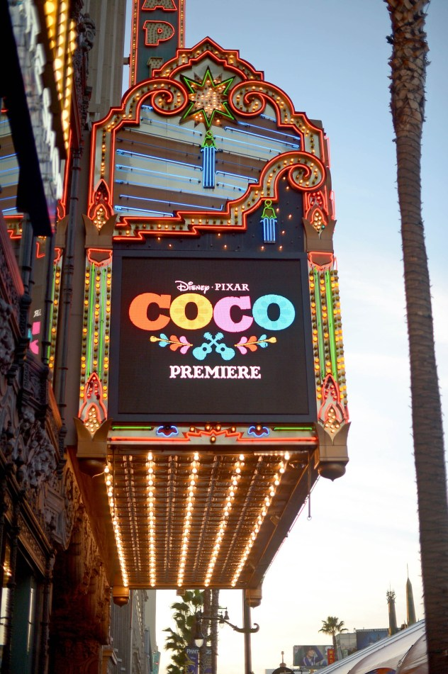 """HOLLYWOOD, CA - NOVEMBER 08: A view of the atmosphere at the U.S. Premiere of Disney-Pixarís """"Coco"""" at the El Capitan Theatre on November 8, 2017, in Hollywood, California. (Photo by Charley Gallay/Getty Images for Disney)"""