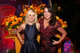 "HOLLYWOOD, CA - NOVEMBER 08: Songwriters Elyssa Samsel (L) and Kate Anderson of ""Olafís Frozen Adventure"" at the U.S. Premiere of Disney-Pixarís ""Coco"" at the El Capitan Theatre on November 8, 2017, in Hollywood, California. ""Olafís Frozen Adventure"" featurette opens in front of Disney-Pixarís original feature ìCocoî for a limited time. (Photo by Jesse Grant/Getty Images for Disney) *** Local Caption *** Kate Anderson; Elyssa Samsel"