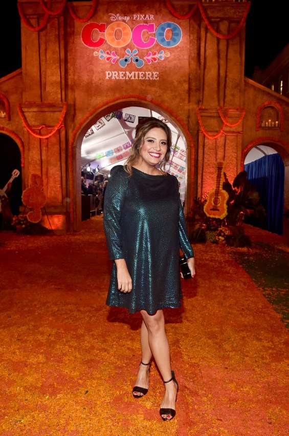 """HOLLYWOOD, CA - NOVEMBER 08: Actor Cristela Alonzo at the U.S. Premiere of Disney-Pixarís """"Coco"""" at the El Capitan Theatre on November 8, 2017, in Hollywood, California. (Photo by Alberto E. Rodriguez/Getty Images for Disney) *** Local Caption *** Cristela Alonzo"""