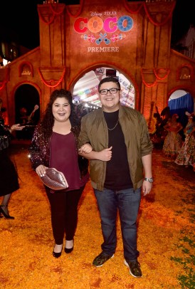 """HOLLYWOOD, CA - NOVEMBER 08: Actors Raini Rodriguez (L) and Rico Rodriguez at the U.S. Premiere of Disney-Pixarís """"Coco"""" at the El Capitan Theatre on November 8, 2017, in Hollywood, California. (Photo by Alberto E. Rodriguez/Getty Images for Disney) *** Local Caption *** Raini Rodriguez; Rico Rodriguez"""