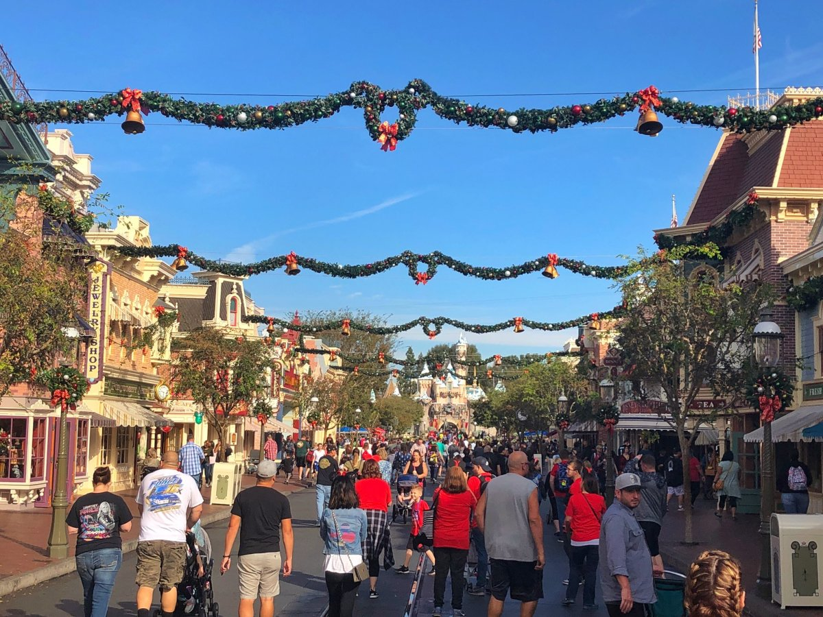 Garland Returns to Main Street USA at Disneyland for the Holidays