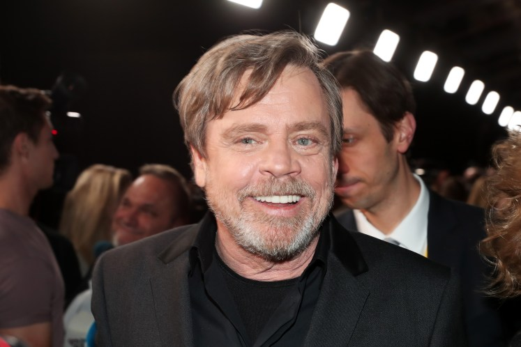 LOS ANGELES, CA - DECEMBER 09: Actor Mark Hamill at Star Wars: The Last Jedi Premiere at The Shrine Auditorium on December 9, 2017 in Los Angeles, California. (Photo by Rich Polk/Getty Images for Disney) *** Local Caption *** Mark Hamill