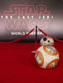 LOS ANGELES, CA - DECEMBER 09: BB-8 at Star Wars: The Last Jedi Premiere at The Shrine Auditorium on December 9, 2017 in Los Angeles, California. (Photo by Rich Polk/Getty Images for Disney) *** Local Caption *** BB-8