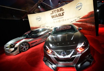 LOS ANGELES, CA - DECEMBER 09: Nissan cars on display at Star Wars: The Last Jedi Premiere at The Shrine Auditorium on December 9, 2017 in Los Angeles, California. (Photo by Charley Gallay/Getty Images for for Disney)