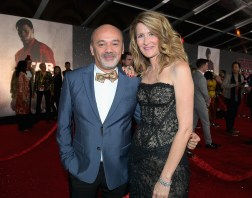 LOS ANGELES, CA - DECEMBER 09: Christian Louboutin (L) and Actor Laura Dern at Star Wars: The Last Jedi Premiere at The Shrine Auditorium on December 9, 2017 in Los Angeles, California. (Photo by Charley Gallay/Getty Images for for Disney) *** Local Caption *** Christian Louboutin; Laura Dern