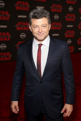 LOS ANGELES, CA - DECEMBER 09: Actor Andy Serkis at Star Wars: The Last Jedi Premiere at The Shrine Auditorium on December 9, 2017 in Los Angeles, California. (Photo by Jesse Grant/Getty Images for Disney) *** Local Caption *** Andy Serkis
