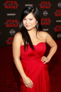 LOS ANGELES, CA - DECEMBER 09: Actor Kelly Marie Tran at Star Wars: The Last Jedi Premiere at The Shrine Auditorium on December 9, 2017 in Los Angeles, California. (Photo by Jesse Grant/Getty Images for Disney) *** Local Caption *** Kelly Marie Tran