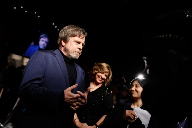 TOKYO, JAPAN - DECEMBER 06: (L) Mark Hamill attneds the 'Star Wars: The Last Jedi' Japan Premiere & Red Carpet at Roppongi Hills on December 6, 2017 in Tokyo, Japan. (Photo by Christopher Jue/Getty Images for Disney) *** Local Caption *** Mark Hamill