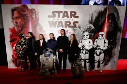 TOKYO, JAPAN - DECEMBER 06: Cast pose for photographs during the 'Star Wars: The Last Jedi' Japan Premiere & Red Carpet at Roppongi Hills on December 6, 2017 in Tokyo, Japan. (Photo by Christopher Jue/Getty Images for Disney)