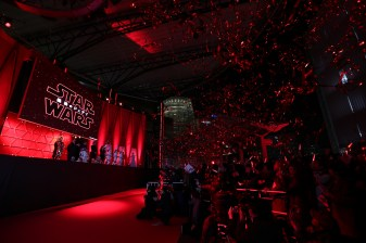 TOKYO, JAPAN - DECEMBER 06: A general view of the 'Star Wars: The Last Jedi' Japan Premiere & Red Carpet at Roppongi Hills on December 6, 2017 in Tokyo, Japan. (Photo by Christopher Jue/Getty Images for Disney)