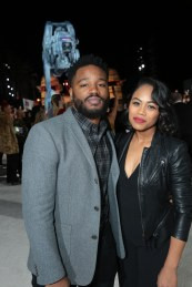 Ryan Coogler and Zinzi Evans arrive on the red carpet for the world premiere of LucasfilmÕs Star Wars: The Last Jedi at the Shrine Auditorium in Los Angeles, December 9, 2017..(Photo: Alex J. Berliner / ABImages )