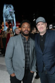 Ryan Coogler and Kevin Feige arrive on the red carpet for the world premiere of LucasfilmÕs Star Wars: The Last Jedi at the Shrine Auditorium in Los Angeles, December 9, 2017..(Photo: Alex J. Berliner / ABImages )