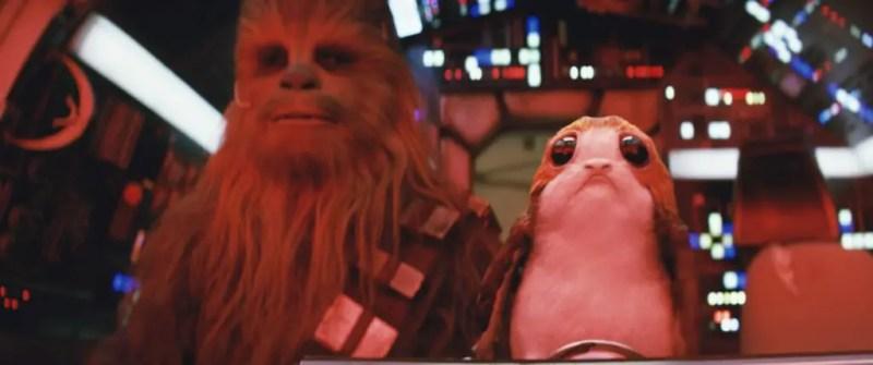 Star Wars: The Last Jedi - Chewbacca and Porg
