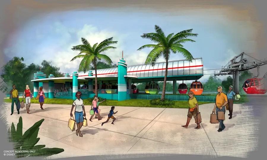 Disney Skyliner Transportation System - Disney's Hollywood Studios Station Rendering