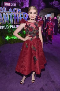 HOLLYWOOD, CA - JANUARY 29: Actor Meg Donnelly at the Los Angeles World Premiere of Marvel Studios' BLACK PANTHER at Dolby Theatre on January 29, 2018 in Hollywood, California. (Photo by Alberto E. Rodriguez/Getty Images for Disney) *** Local Caption *** Meg Donnelly