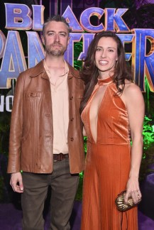 HOLLYWOOD, CA - JANUARY 29: Actor Sean Gunn (L) and guest at the Los Angeles World Premiere of Marvel Studios' BLACK PANTHER at Dolby Theatre on January 29, 2018 in Hollywood, California. (Photo by Alberto E. Rodriguez/Getty Images for Disney) *** Local Caption *** Sean Gunn