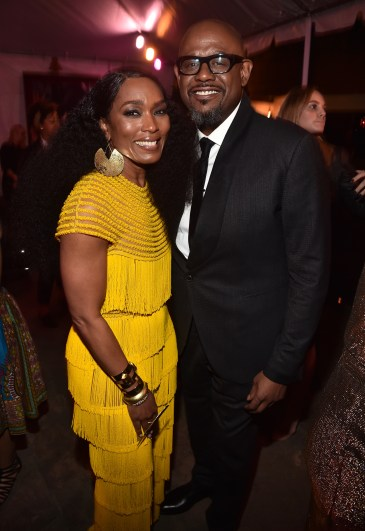 HOLLYWOOD, CA - JANUARY 29: Actors Angela Bassett (L) and Forest Whitaker at the Los Angeles World Premiere of Marvel Studios' BLACK PANTHER at Dolby Theatre on January 29, 2018 in Hollywood, California. (Photo by Alberto E. Rodriguez/Getty Images for Disney) *** Local Caption *** Angela Bassett; Forest Whitaker