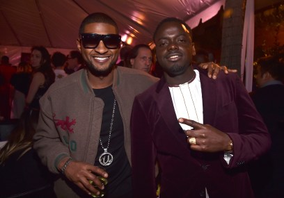HOLLYWOOD, CA - JANUARY 29: Singer Usher (L) and actor Daniel Kaluuya at the Los Angeles World Premiere of Marvel Studios' BLACK PANTHER at Dolby Theatre on January 29, 2018 in Hollywood, California. (Photo by Alberto E. Rodriguez/Getty Images for Disney) *** Local Caption *** Usher; Daniel Kaluuya
