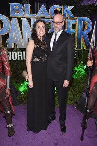 HOLLYWOOD, CA - JANUARY 29: Director Peyton Reed (R) and guest at the Los Angeles World Premiere of Marvel Studios' BLACK PANTHER at Dolby Theatre on January 29, 2018 in Hollywood, California. (Photo by Alberto E. Rodriguez/Getty Images for Disney) *** Local Caption *** Peyton Reed