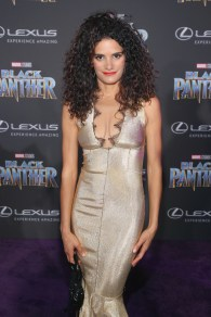 HOLLYWOOD, CA - JANUARY 29: Actor Ashley Dyke at the Los Angeles World Premiere of Marvel Studios' BLACK PANTHER at Dolby Theatre on January 29, 2018 in Hollywood, California. (Photo by Jesse Grant/Getty Images for Disney) *** Local Caption *** Ashley Dyke