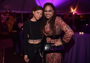 HOLLYWOOD, CA - JANUARY 29: Actor Storm Reid (L) and director Ava DuVernay at the Los Angeles World Premiere of Marvel Studios' BLACK PANTHER at Dolby Theatre on January 29, 2018 in Hollywood, California. (Photo by Alberto E. Rodriguez/Getty Images for Disney) *** Local Caption *** Storm Reid; Ava DuVernay
