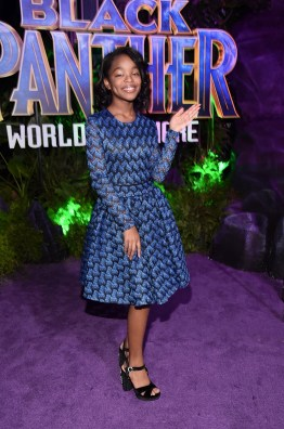 HOLLYWOOD, CA - JANUARY 29: Actor Marsai Martin at the Los Angeles World Premiere of Marvel Studios' BLACK PANTHER at Dolby Theatre on January 29, 2018 in Hollywood, California. (Photo by Alberto E. Rodriguez/Getty Images for Disney) *** Local Caption *** Marsai Martin