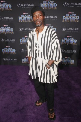 HOLLYWOOD, CA - JANUARY 29: Actor Isaach de Bankole at the Los Angeles World Premiere of Marvel Studios' BLACK PANTHER at Dolby Theatre on January 29, 2018 in Hollywood, California. (Photo by Jesse Grant/Getty Images for Disney) *** Local Caption *** Isaach de Bankole