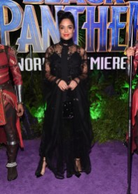 HOLLYWOOD, CA - JANUARY 29: Actor Tessa Thompson at the Los Angeles World Premiere of Marvel Studios' BLACK PANTHER at Dolby Theatre on January 29, 2018 in Hollywood, California. (Photo by Alberto E. Rodriguez/Getty Images for Disney) *** Local Caption *** Tessa Thompson