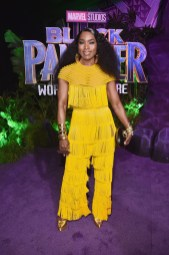 HOLLYWOOD, CA - JANUARY 29: Actor Angela Bassett at the Los Angeles World Premiere of Marvel Studios' BLACK PANTHER at Dolby Theatre on January 29, 2018 in Hollywood, California. (Photo by Alberto E. Rodriguez/Getty Images for Disney) *** Local Caption *** Angela Bassett