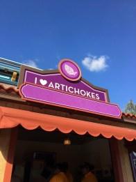 I Heart Artichokes Booth - 2018 Disney California Adventure Food and Wine Festival